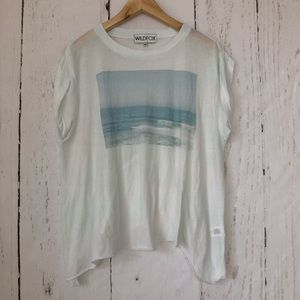 Wildfox Calming Monochromatic Beach Scene Shirt